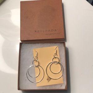 Slipada sterling 925 earrings with wire hooks.